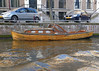 Amsterdam; classic wooden boat