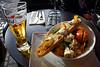 1st lunch in Paris, Eric Kayser restarurant in Bercy Village, sweet potato salad, fantastic