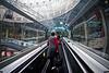CDG Paris, escalator to baggage claim