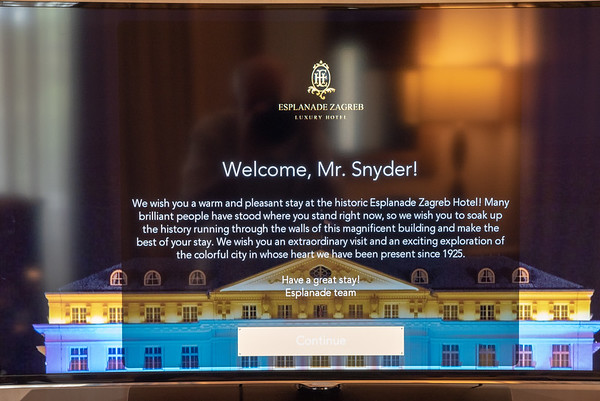 Zagreb - Esplanade Zagreb Hotel welcome