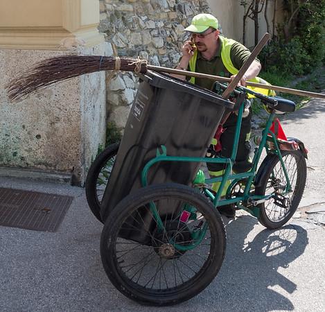 Zagreb - street sweeper