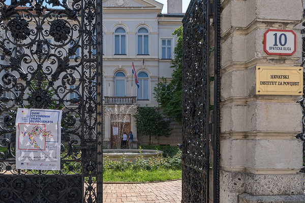 Zagreb - great wrought iron gates and fence