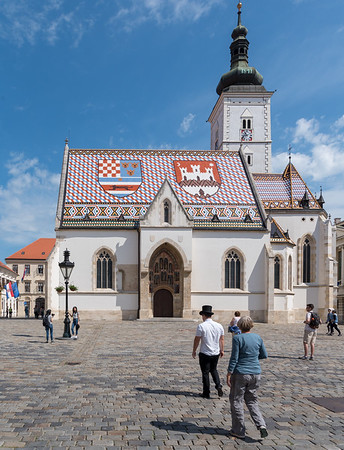 Zagreb - the Church of St. Mark