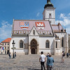 Zagreb - the Church of St. Mark
