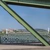Budapest - Liberty Bridge view of Elizabeth Bridge, Buda Castle and Matthias Church
