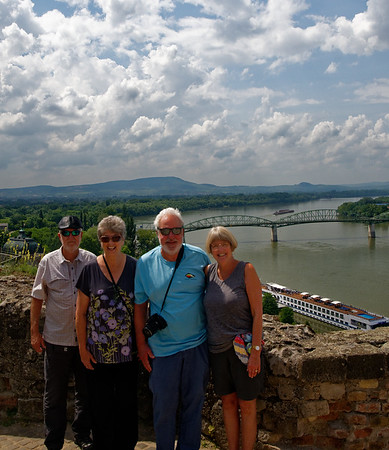Ezstergom - the group and the Danube