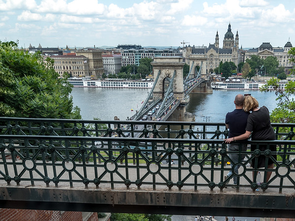 Budapest - walk back to our hotel, view from the funicular