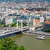 Budapest - Elisabeth Bridge into Pest