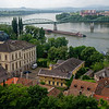 Esztergom - view of the Danube and Štúrovo Slovakia