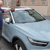 Budapest - Terry approves of the color of the new Volvo
