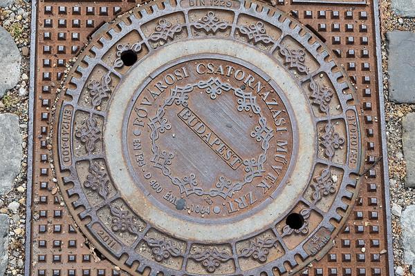 Budapest - manhole cover