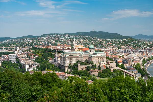 Budapest - Buda Castle with Matthias church behind it.