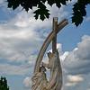 Ezstergom - statue of St. Stephen's coronation