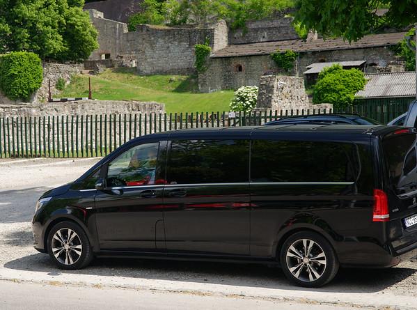 Visegrád Hungary - our MB minivan