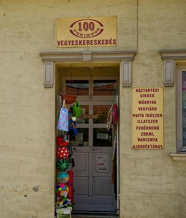 Pilisvörösvár (north of Budapest) - vegyeskereskedés (general store)