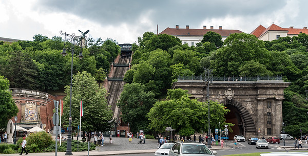 Budapest - walk back to our hotel, funicuar and Buda Castle Hill Tunnel