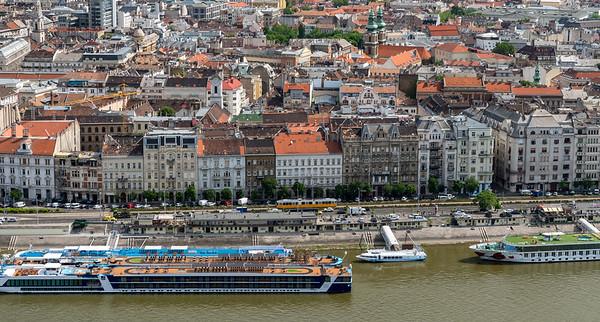 Budapest - cruise ships along the Danube
