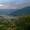 Hungary - view of the Danube and Slovakia across the river