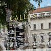 Budapest - Callas restaurant with the Opera House in the window