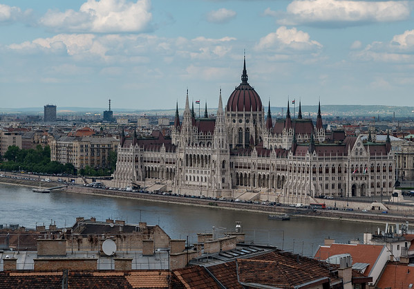 Budapest - view of Parliament from Castle Hill