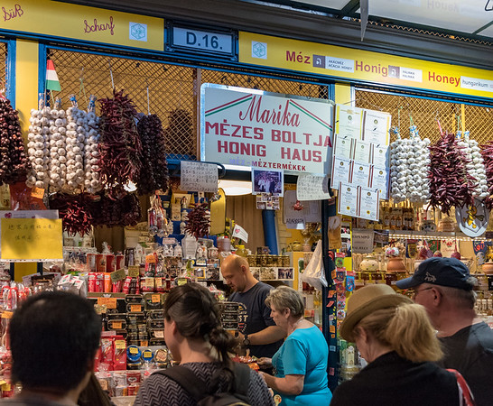 Budapest - Great Market Hall, paprika of every kind