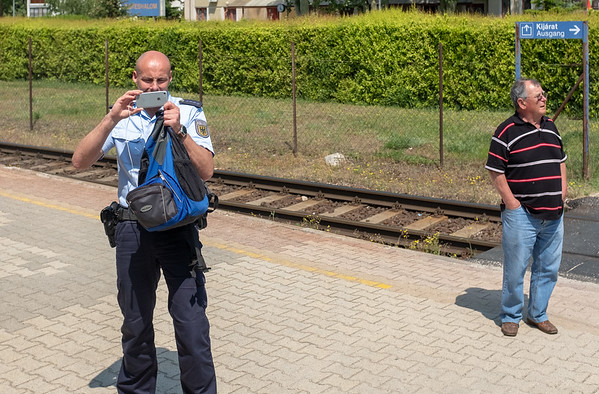 Orient Express - everyone wants a photo, including the police