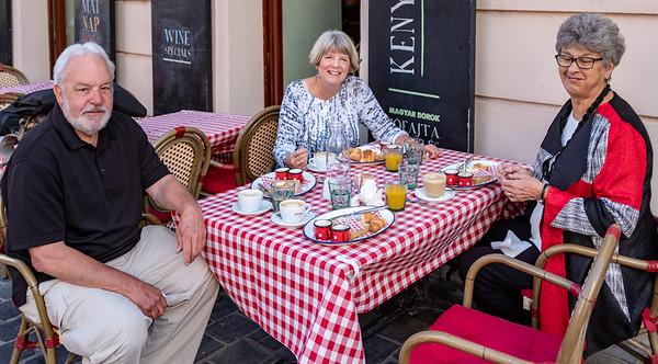 Pest-Buda Hotel - enjoying a hard-won breakfast
