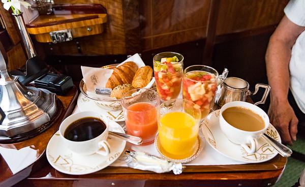 Orient Express - breakfast in the cabin, courtesy Rupert