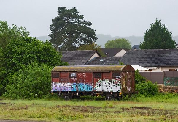Orient Express - abandonded railcar, NE of Paris near the Belgium border