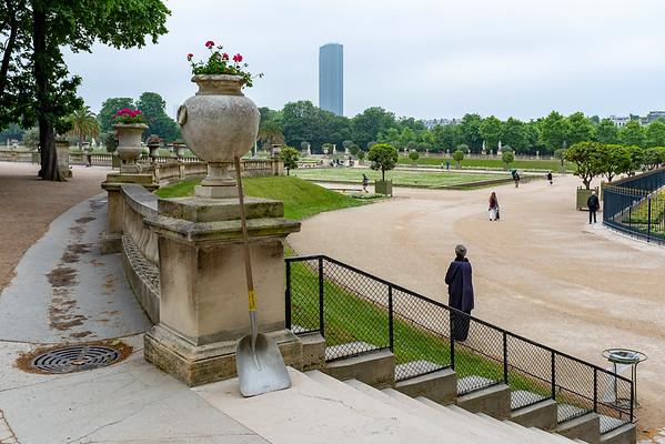 Luxembourg Gardens Paris - Montparnasse Tower in background
