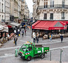 Paris - walk to Les Halles and Cafe Montorgueil