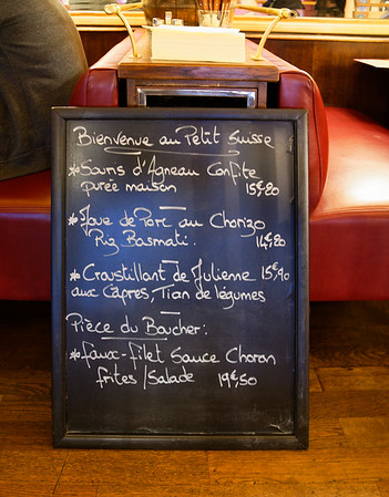 Paris - great lunch at au Petit Suisse, favorite of locals