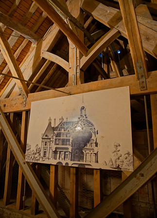 Vaux-le-Vicomte - the attic, originally timber-framed