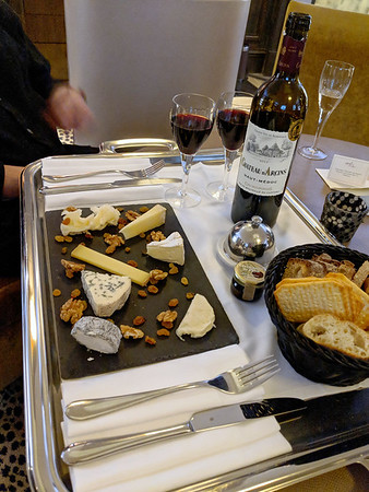 Esprit Hotel, Paris - from Rich Brooks, our travel advisor, a complimentary wine and cheese tray
