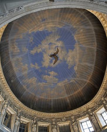 Vaux-le-Vicomte - unfinished ceiling