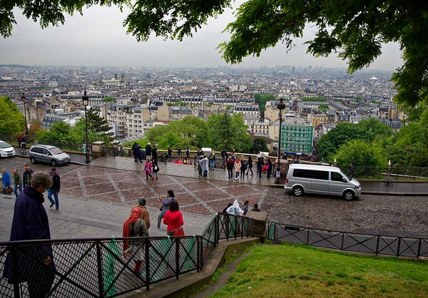 Paris - view from Sacré-Cœur, highest point in Paris
