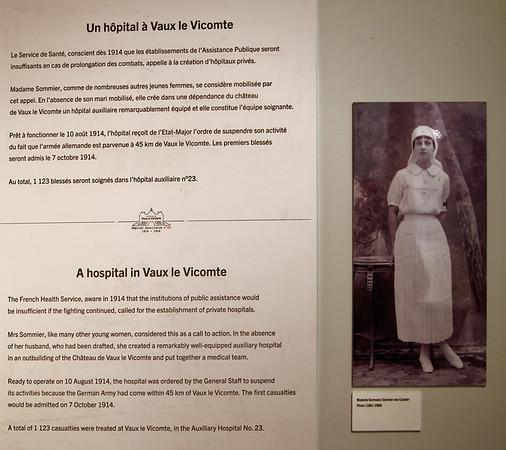 Vaux-le-Vicomte - use as a hospital