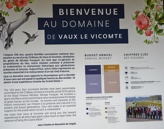 Vaux-le-Vicomte - the estate is in private hands and depends on donations