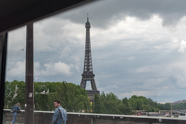 Paris - first glimpse of the Eiffel Tower