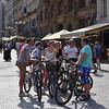 Prague - bicyclists pause