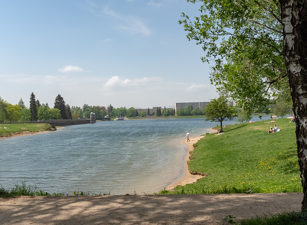 Jablonec - lake in the town