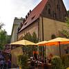 Prague - street scene near the Jewish center of Prague