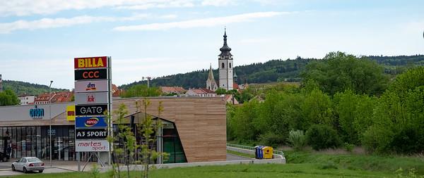 Czech roadside scene