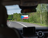 Billboards with Czech flag
