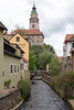 Cesky Krumlov - Castle Tower and canal
