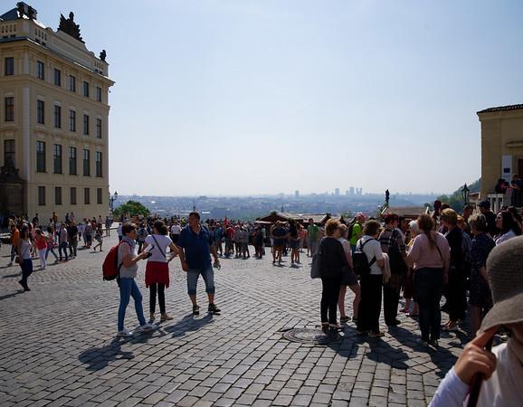 Prague Castle square, view of Prague