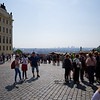 Prague Castle square, view of Prague
