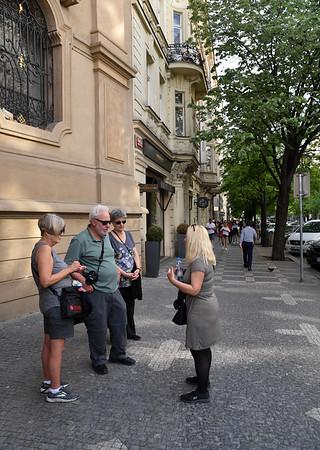 Prague - regrouping on Pařížská Street