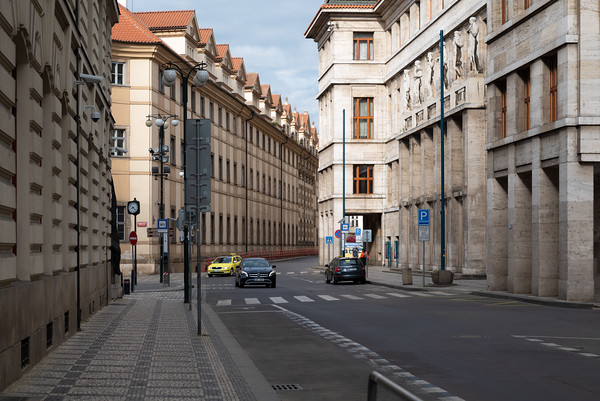 Prague - streets empty early in the morning