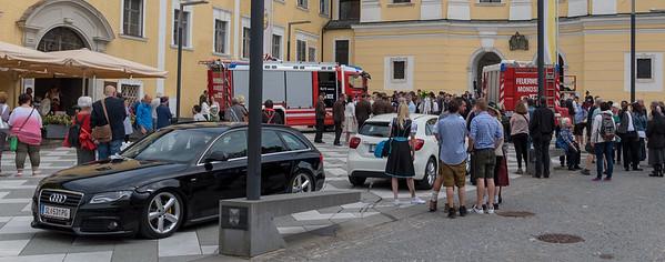 Austrian road scene - Mondsee wedding